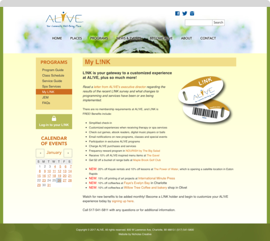 Alive internal page