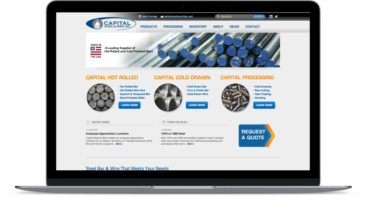 Capital Steel | Nicholas Creative