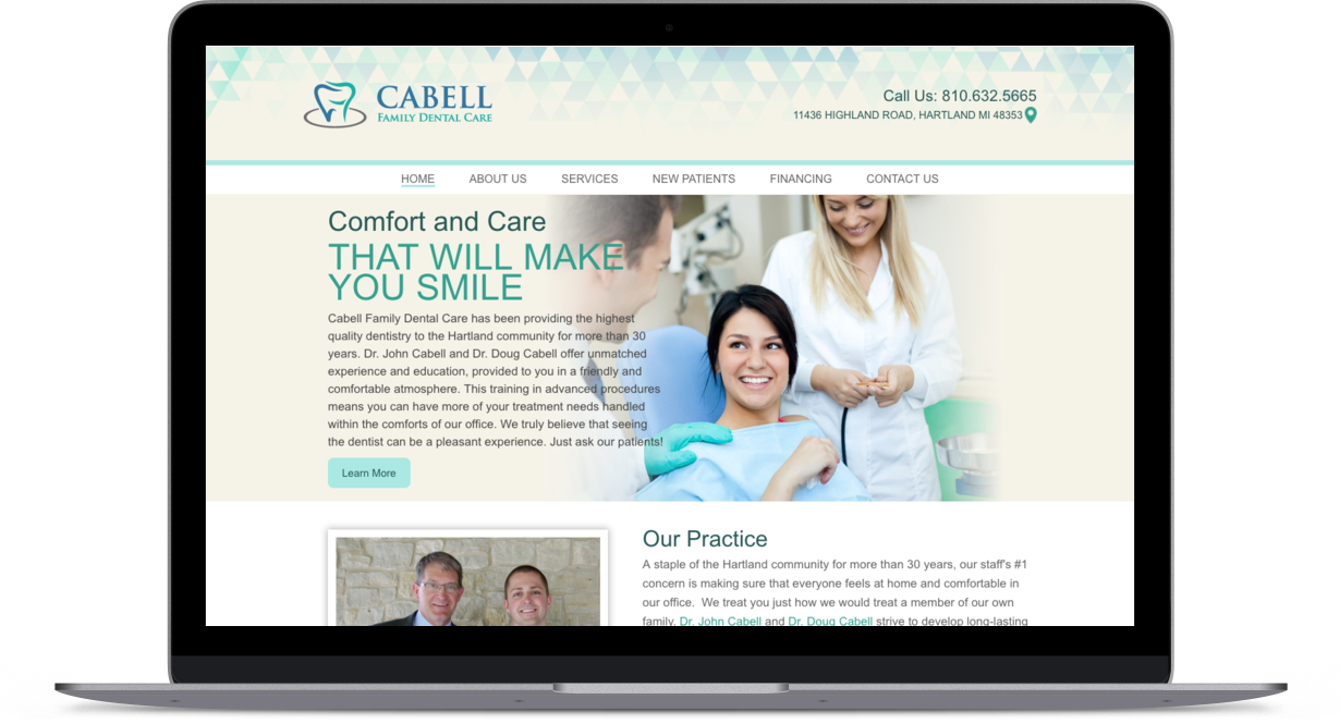 Cabell Family Dental Care Homepage