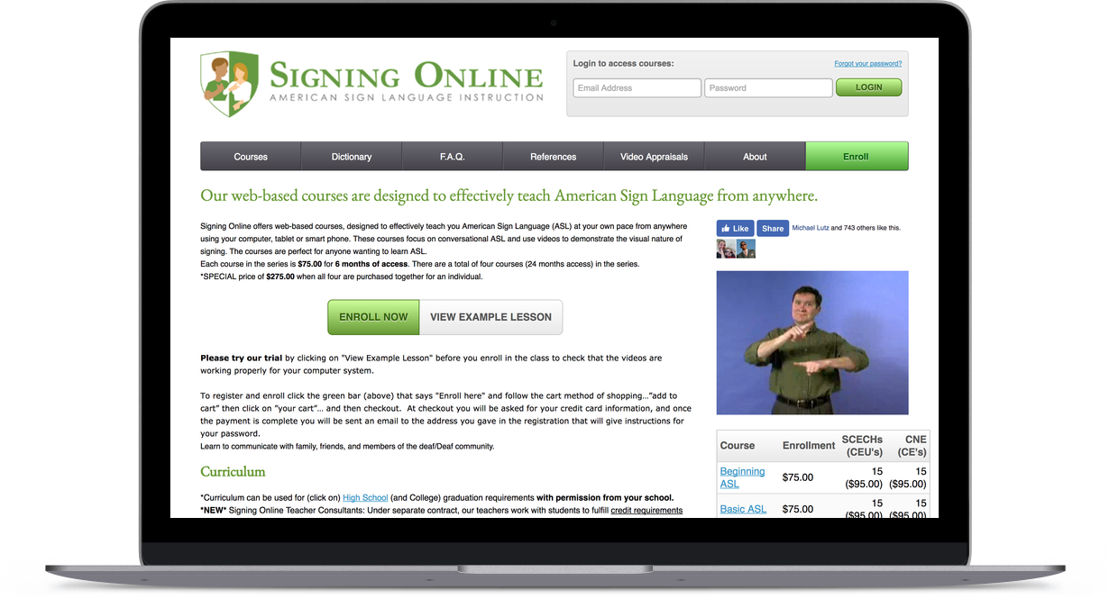 Signing Online Homepage